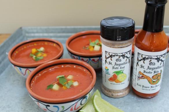 Spicy Datil Pepper Gazpacho