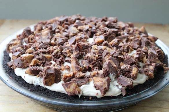 Spicy Datil Pepper Peanut Butter Cup Pie with Oreo Cookie Crust